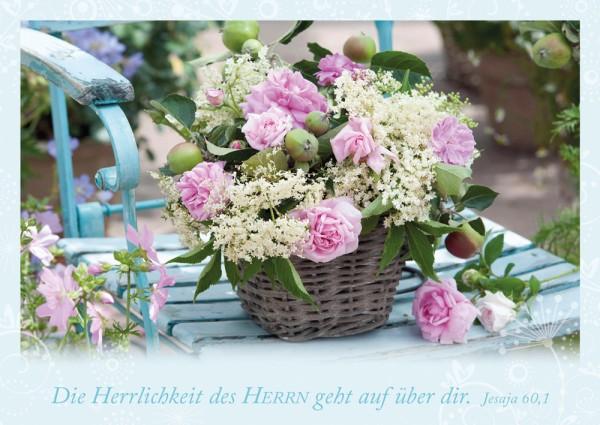 Postkarte Herrlichkeit des HERRN / Garten