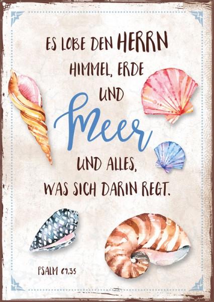 Postkarte Muschel Meer