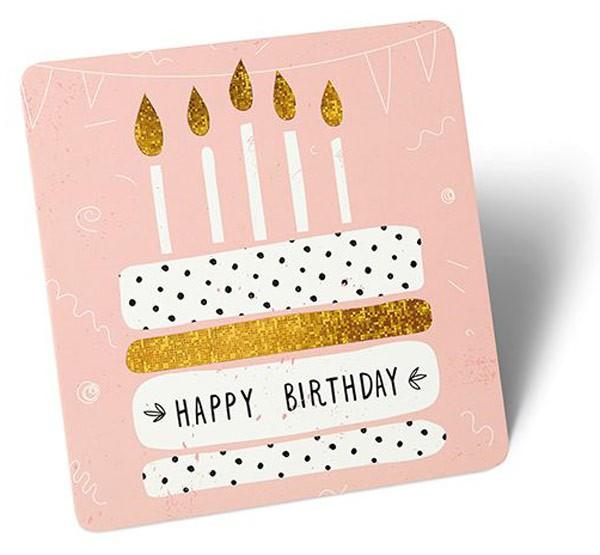 Stand-Up-Greeting Torte rosa Hintergrund
