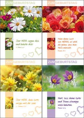 Minikarten Serie Verschiedene Blumen