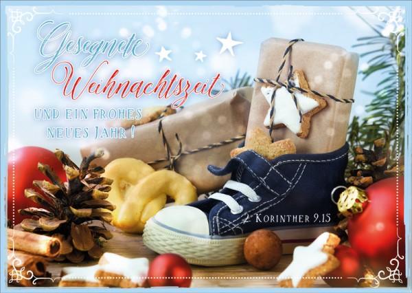 Postkarte Kinderschuh