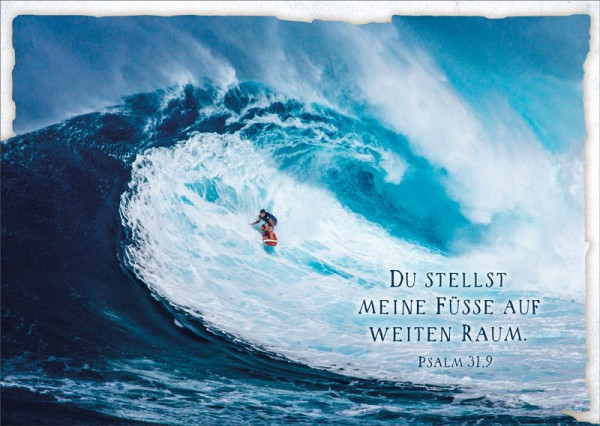 Postkarte Wellenreiter