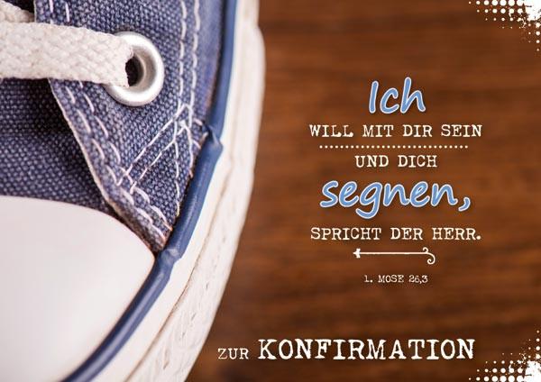 Doppelkarte Konfi Blauer Schuh