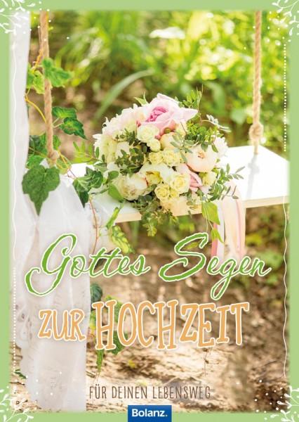 Grußheft Gottes Segen zur Hochzeit