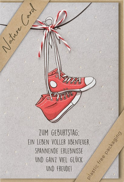 Doppelkarte Rote High Sneakers NC