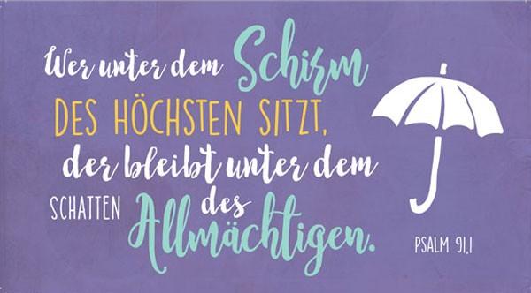 Wandschmuckschild Wer unter dem Schirm...