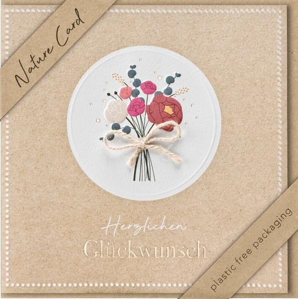 Doppelkarte Blumenstrauß NC