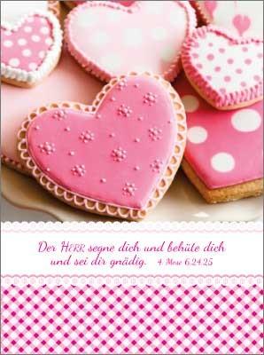 Minikarten Rosa Herzen