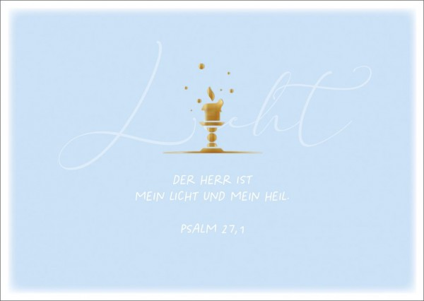Postkarte Licht/Kerze GF
