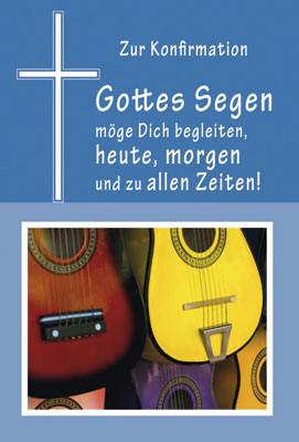 Doppelkarte Konfi Gitarren