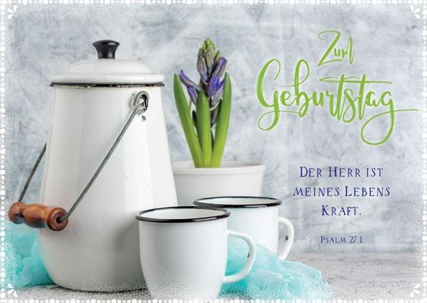 Postkarte Geb. Milchkanne