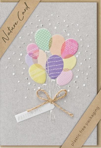 Doppelkarte Luftballons NC