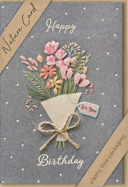 Doppelkarte Blumenstrauß For You NC