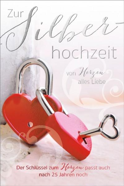 Doppelkarte 25 Schlüssel zum Herzen