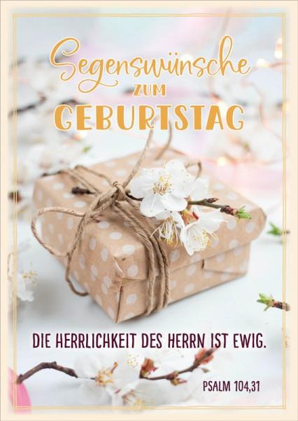 Postkarte Päckchen Kirschblüte GF