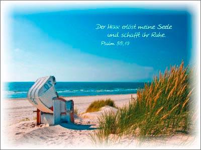 Minikarten Strandkorb
