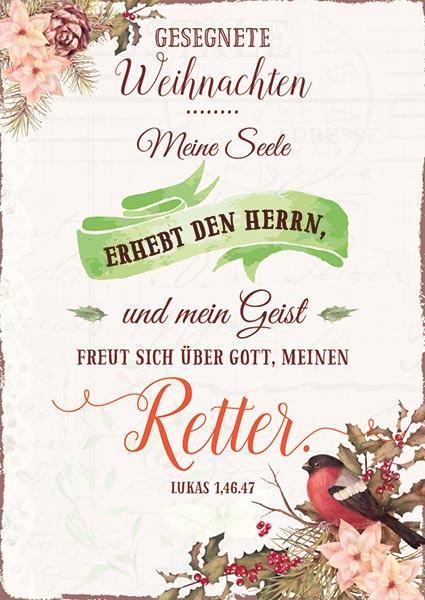 Postkarte Meine Seele erhebt den Herrn