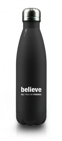 Isolierflasche believe schwarz
