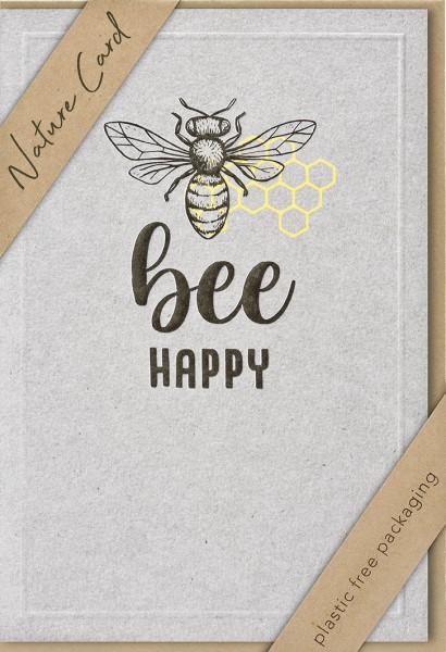 Doppelkarte bee Happy NC