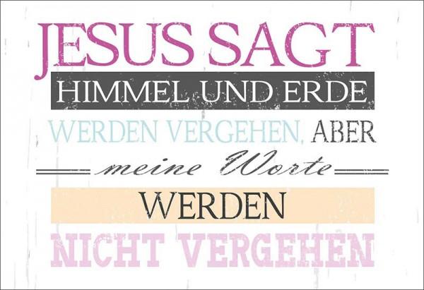 Wandschmuckschild Jesus sagt