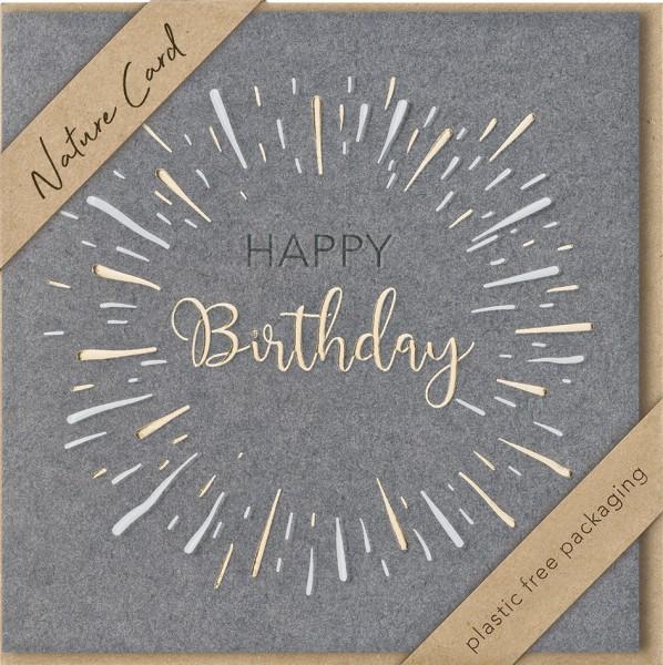 Doppelkarte Happy Birthday NC