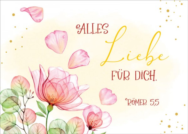 Postkarte Alles Liebe GF