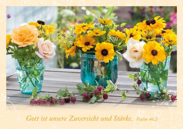 Postkarte Zuversicht und Stärke/Garten