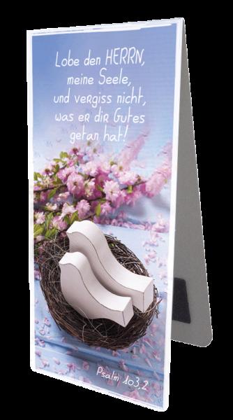 Magnetlesezeichen Holzvögel im Nest