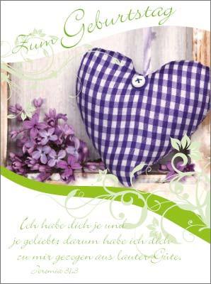 Minikarten Kariertes Herz