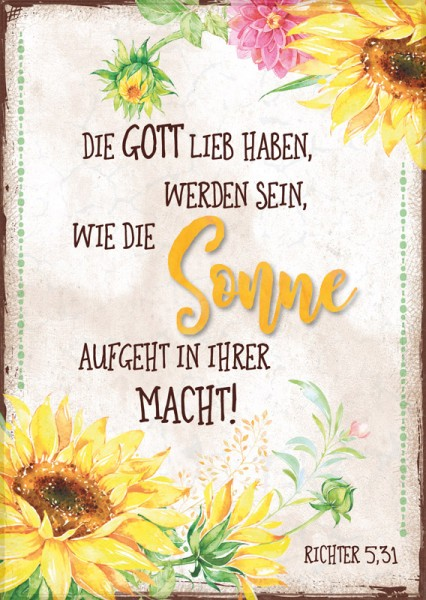 Postkarte Sonne / Sonnenblumen