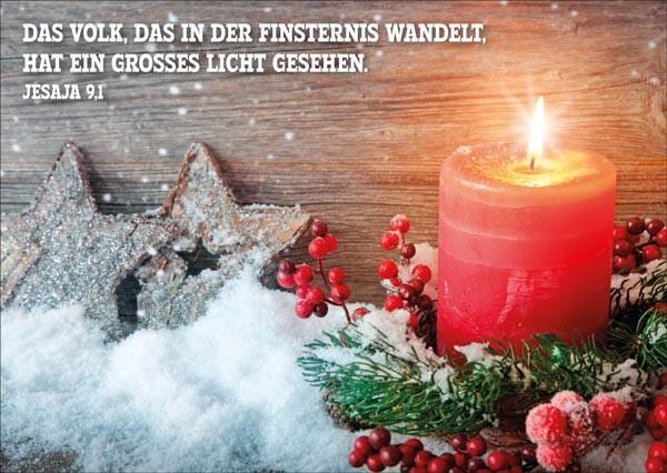 Postkarte Rote Kerze