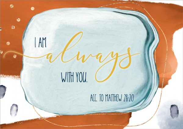 Postkarte Always with you GF
