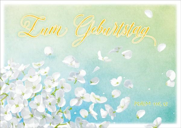 Postkarte Weiße Blüten GF