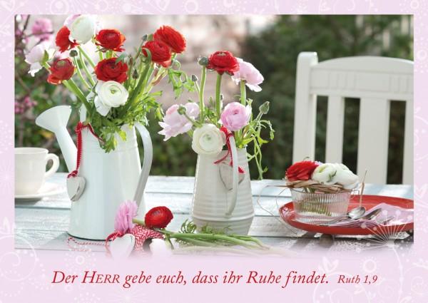 Postkarte Ruhe / Garten