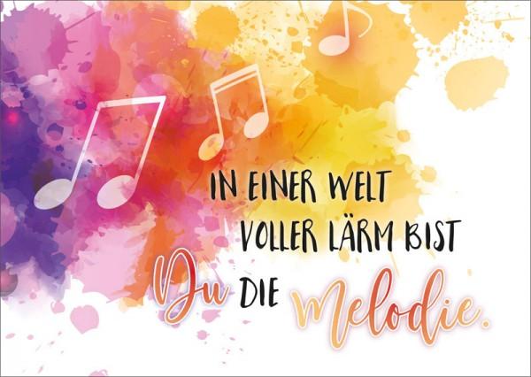 Postkarte Noten / Melodie