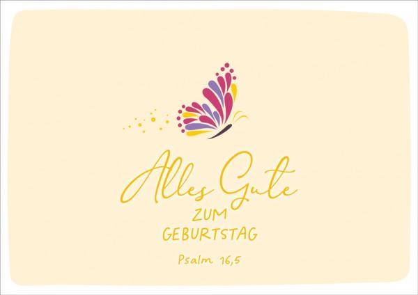 Doppelkarte Alles Gute / Schmetterling GF
