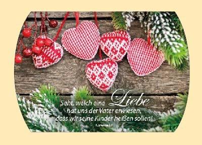 Geschenkschachtel Rote Herzen