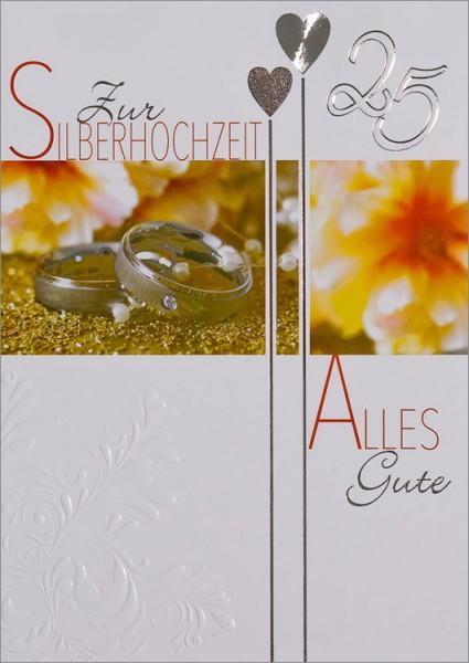 Doppelkarte 25 Silberringe