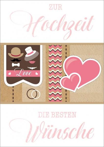Doppelkarte Love Herzen