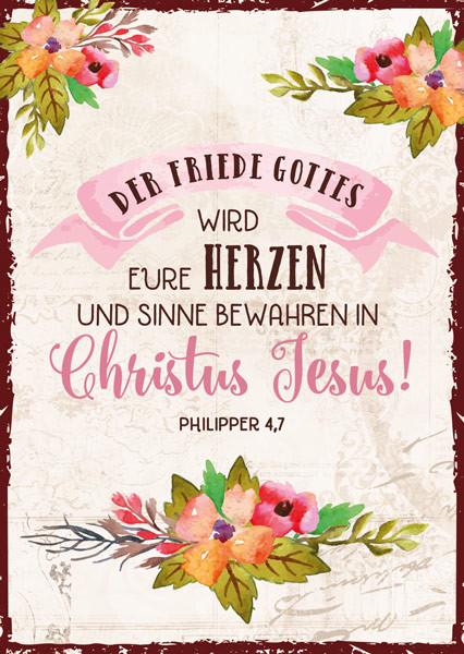 Postkarte Der Friede Gottes wird...