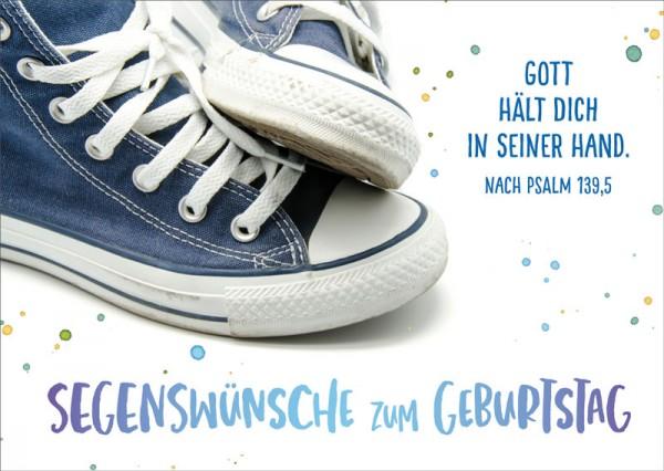 Postkarte Blaue Sneakers