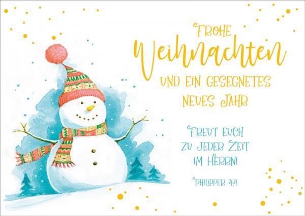 Postkarte Schneemann GF