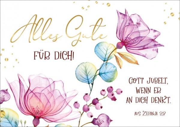 Postkarte Gott jubelt GF