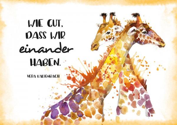 Postkarte Giraffen