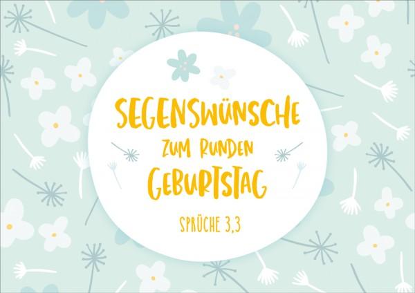 Doppelkarte Zum runden Geburtstag / Blüten GF