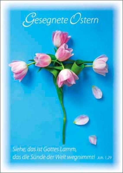 Doppelkarte Ostern - Tulpen