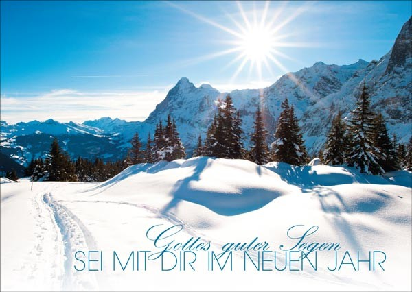 Postkarte Berge + Schnee