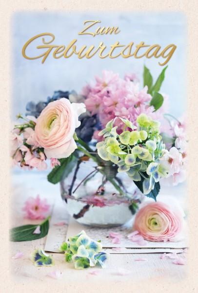 Doppelkarte Blumenvase ENC