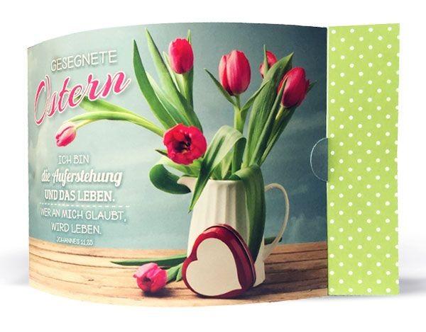 Aufstellkarte Ostern Ich bin die Auferstehung