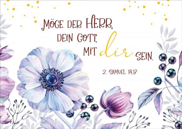 Postkarte Möge der Herr, dein Gott, mit dir sein GF